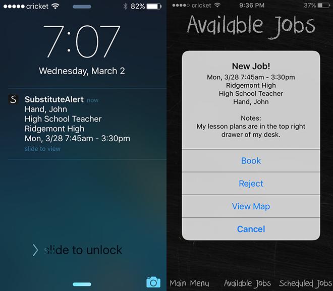 SubAlert - iOS Job Booking Tip